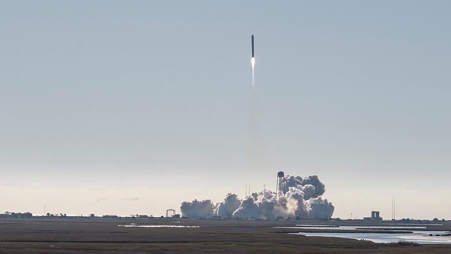 The Northrop Grumman Antares rocket, with the Cygnus resupply spacecraft