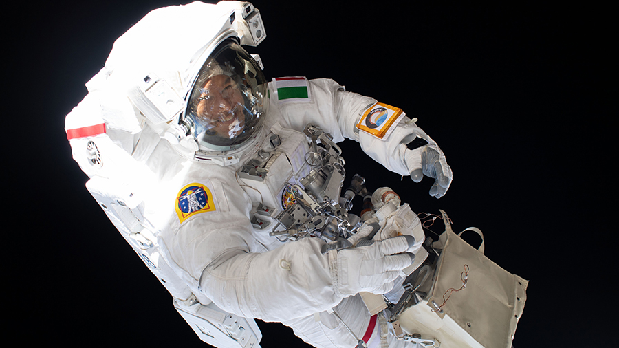 ESA (European Space Agency) astronaut Luca Parmitano