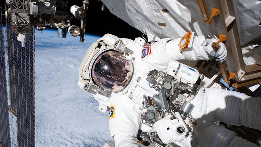 Astronaut Andrew Morgan of NASA