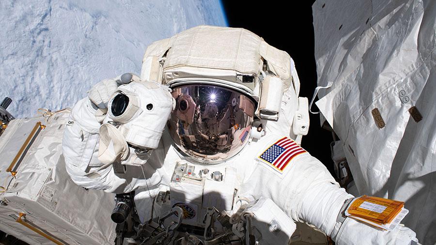 NASA astronaut and spacewalker Andrew Morgan