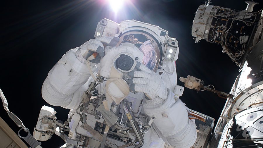 Astronaut and spacewalker Luca Parmitano