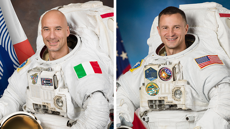 ESA (European Space Agency) Commander Luca Parmitano and NASA astronaut Andrew Morgan.