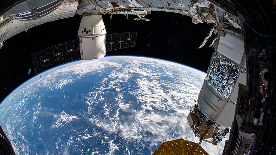 The SpaceX Dragon and Northrop Grumman Cygnus cargo ships