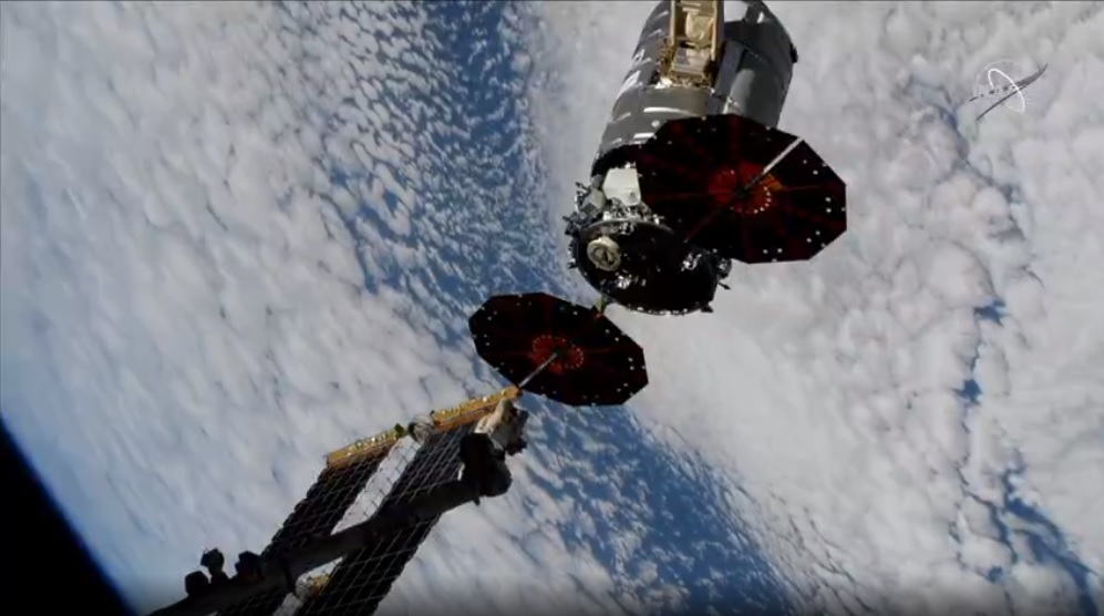 The U.S. Cygnus space freighter
