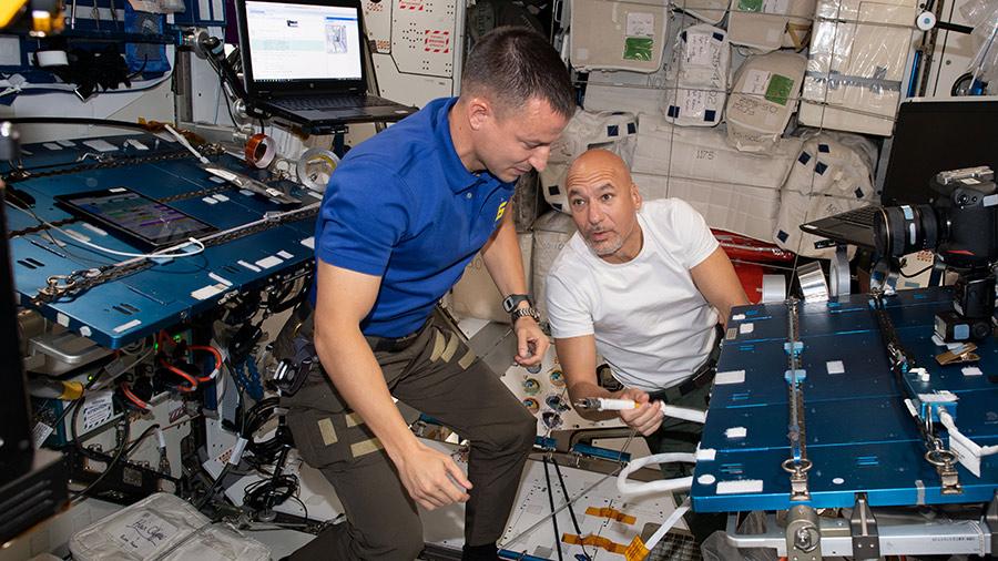 Astronauts Andrew Morgan and Luca Parmitano