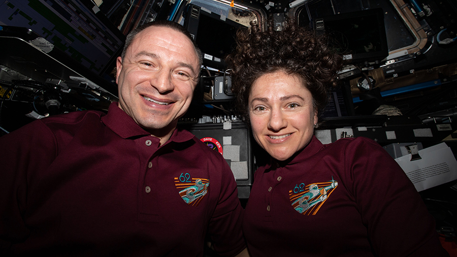 NASA astronauts and Andrew Morgan and Jessica Meir