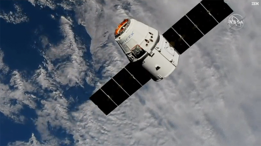 The 20th SpaceX Dragon resupply mission approaches the space station