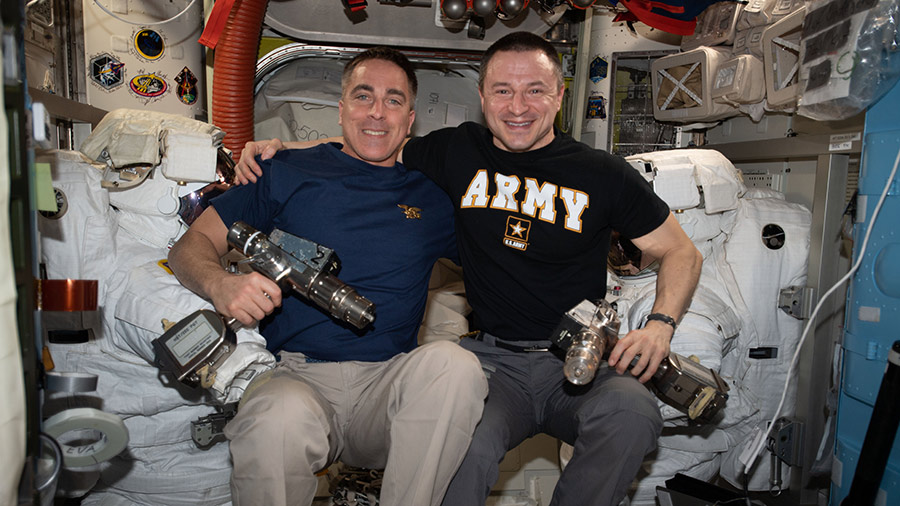NASA astronauts Chris Cassidy and Andrew Morgan
