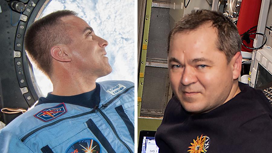 Astronaut Chris Cassidy and cosmonaut Oleg Skripochka
