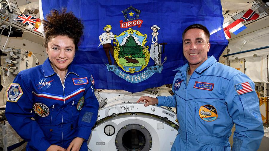 NASA astronauts Jessica Meir and Chris Cassidy