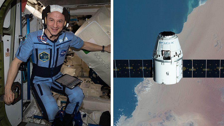 Astronaut Andrew Morgan will monitor the departure of the SpaceX Dragon resupply ship