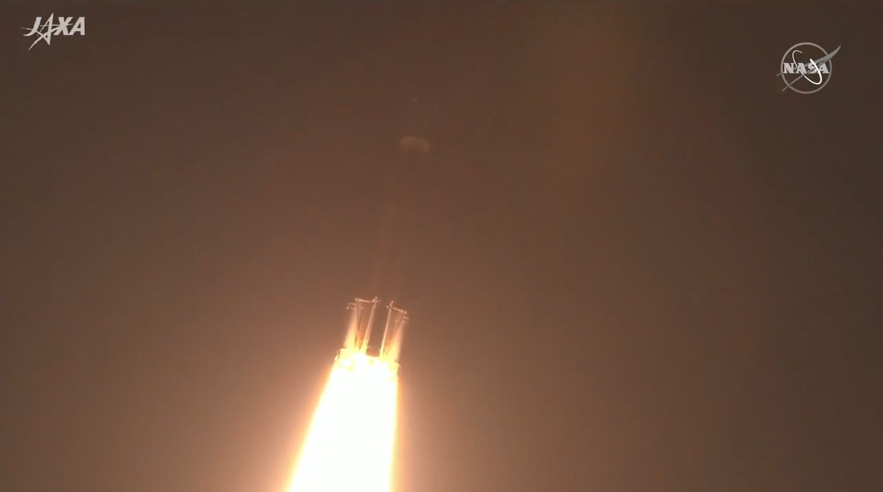 Japan's HTV-9 cargo craft moments after liftoff