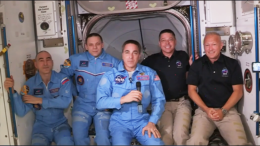 The Expedition 63 crew has expanded to five members