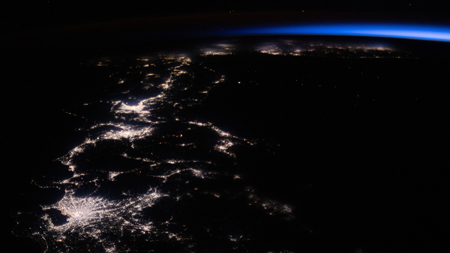 The city lights of Japan