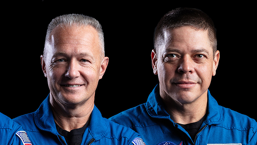 The crew of the SpaceX Demo-2 mission NASA astronauts (from left) Doug Hurley and Bob Behnken.