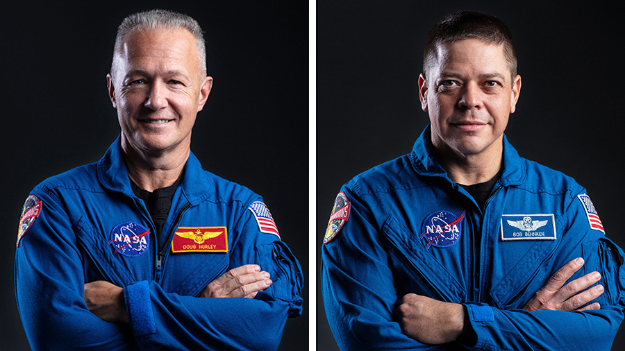 NASA's first commercial crew astronauts (from left) Doug Hurley and Bob Behnken are preparing for their return to Earth aboard the SpaceX Crew Dragon spacecraft.