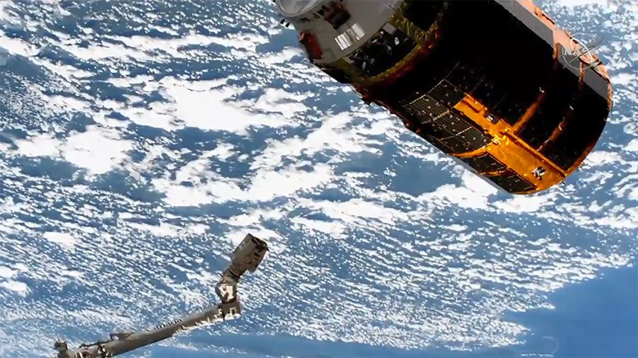 Japan's HTV-9 resupply ship is on its own after being released from the Canadarm2 robotic arm completing a three-month cargo mission at the station.