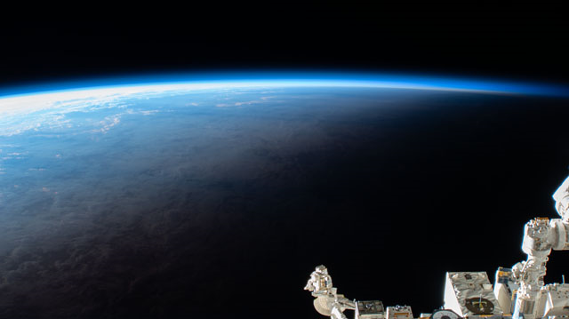 A view of Earth from the International Space Station, taken using an external high-definition camera. Credits: NASA