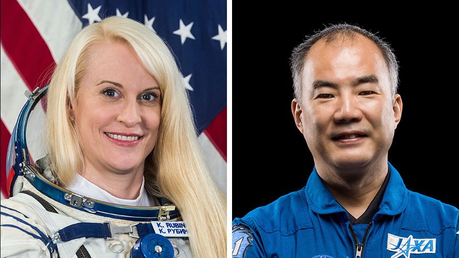 Expedition 64 Flight Engineers Kate Rubins and Soichi Noguchi are conducting the fourth spacewalk of their careers today.