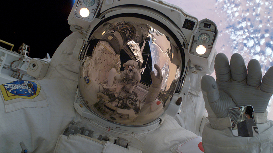 Astronaut Soichi Noguchi is pictured during a spacewalk that took place over 15 years ago during the STS-114 space shuttle mission to the space station on August 1, 2005.