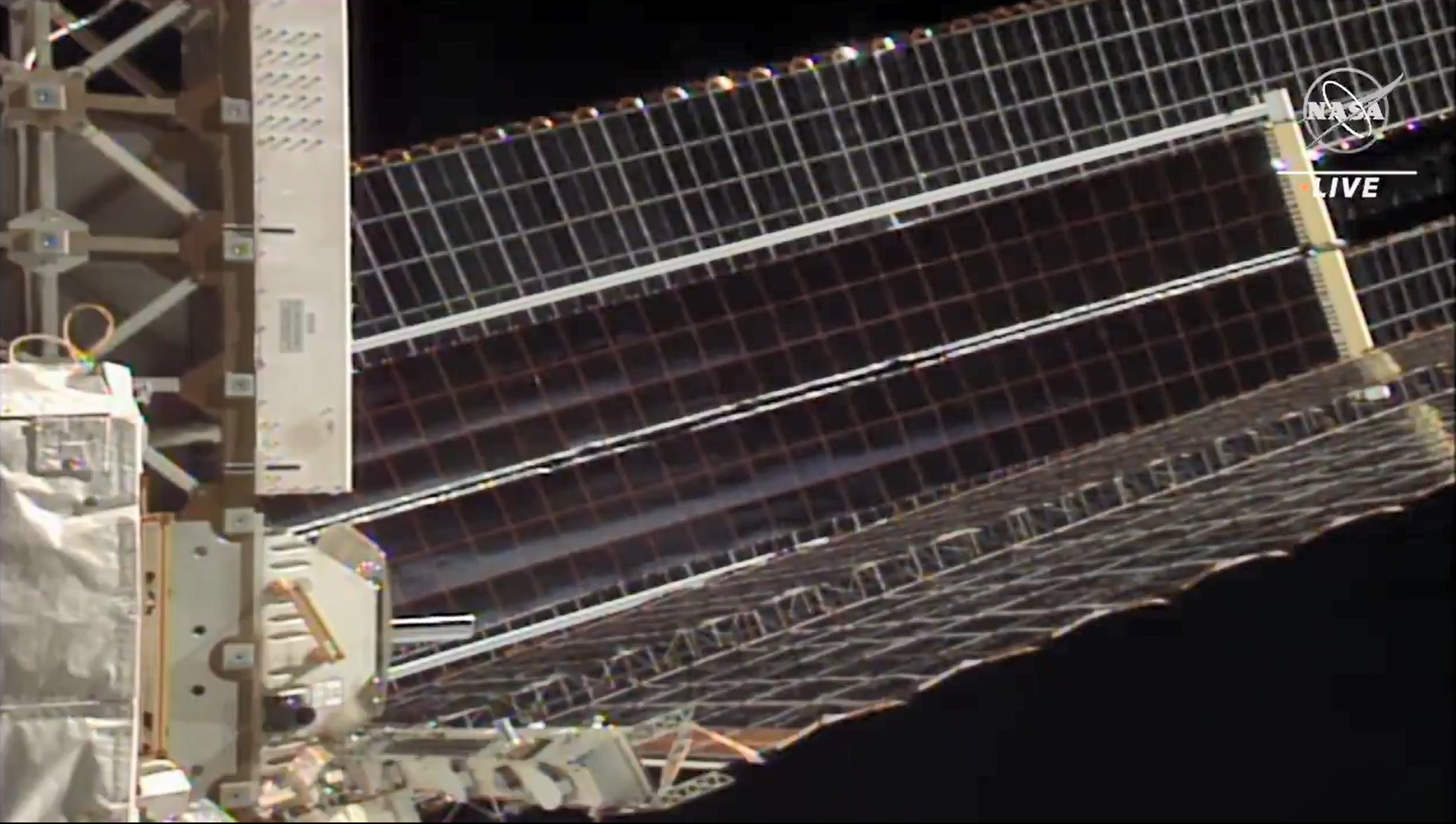 The 60-foot-long roll out solar arrays were successfully deployed in a process that took about 10 minutes.