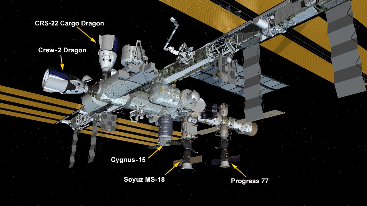 June 5, 2020: International Space Station Configuration.