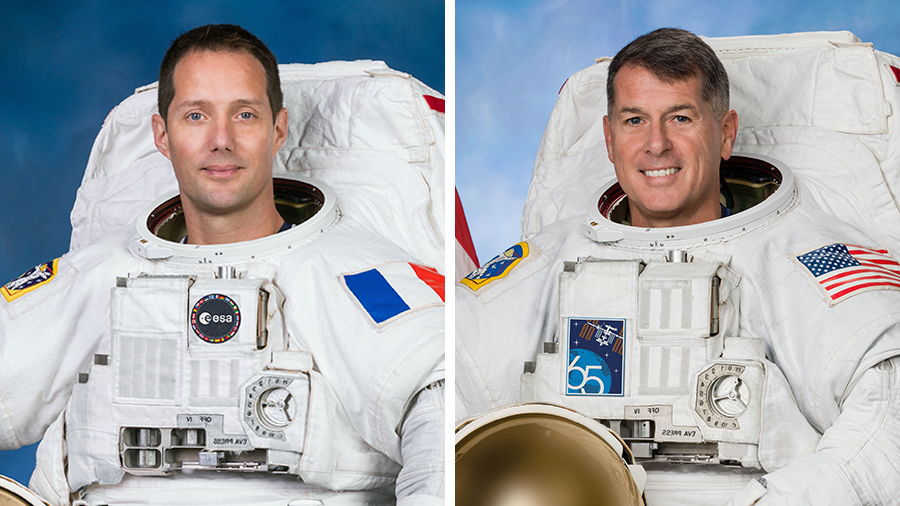 Veteran astronauts Thomas Pesquet and Shane Kimbrough are conducting their fourth spacewalk together today. Their first two spacewalks together were during Expedition 50 on 2017.