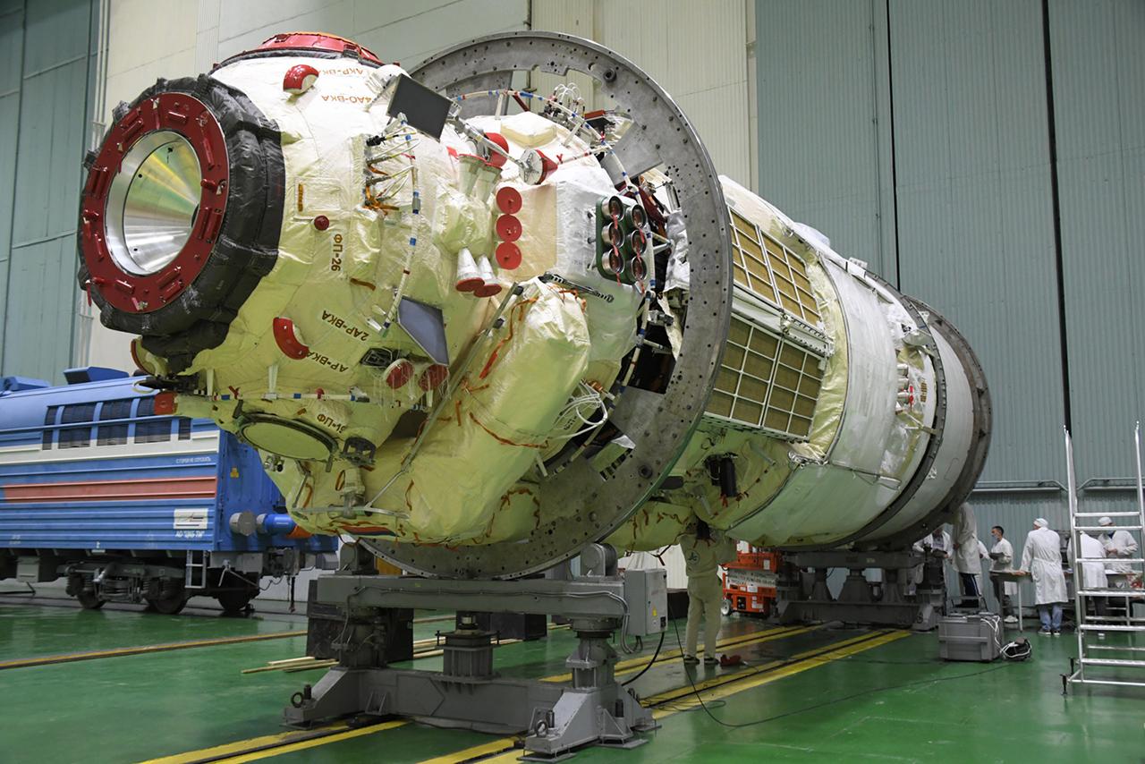 Nauka module before launch