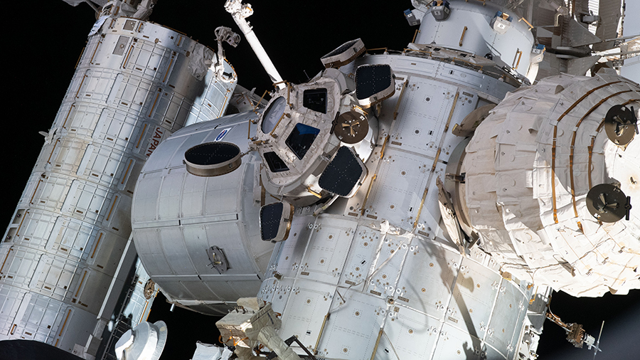 Portions of the space station, including BEAM seen at right attached to the Tranquility module, are seen in this picture taken in August.