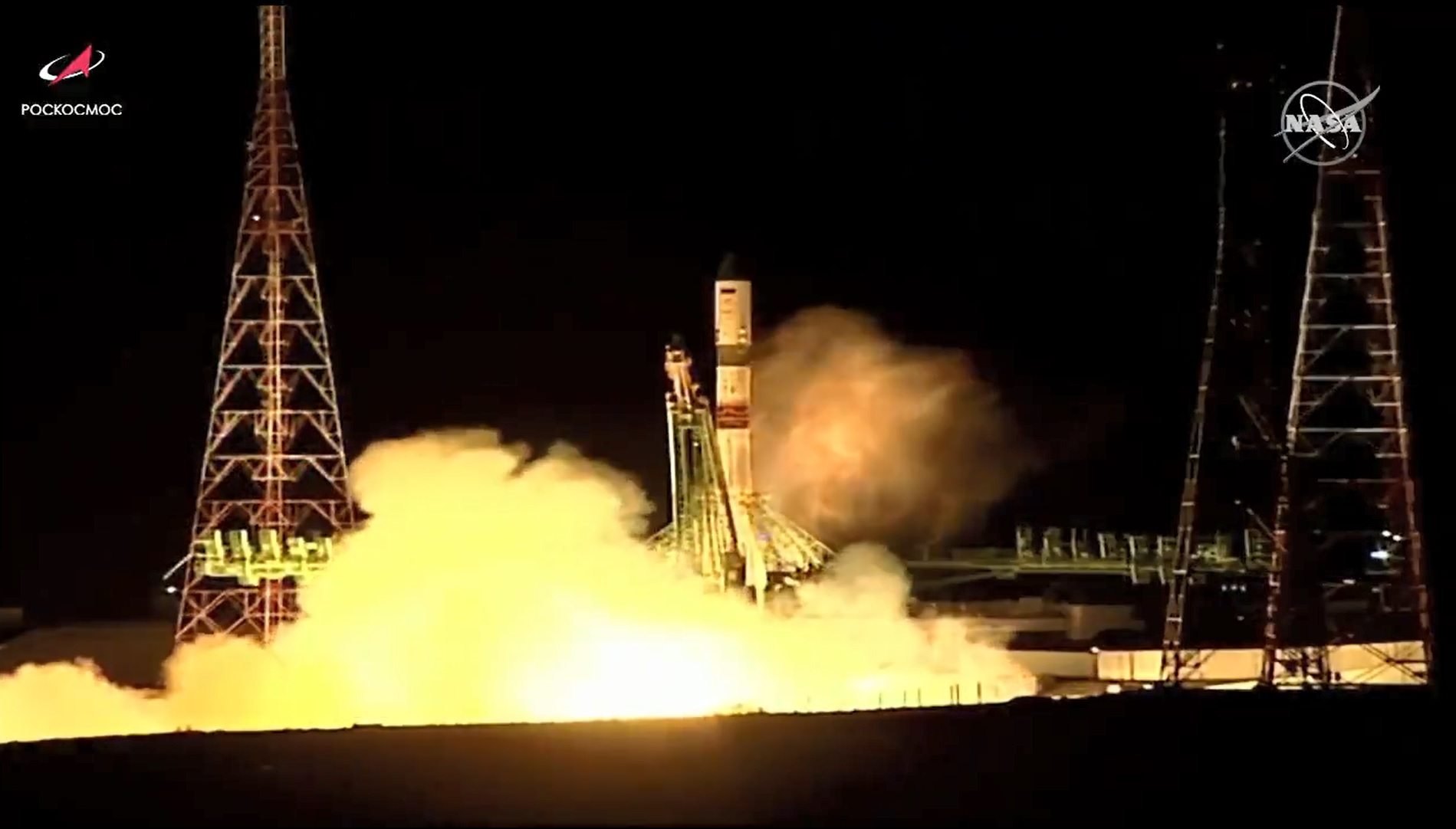 Russia's ISS Progress 79 resupply ship blasts off from the Baikonur Cosmodrome in Kazakhstan to the space station. Credit: NASA TV