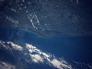 Cape Canaveral as seen from the International Space Station.