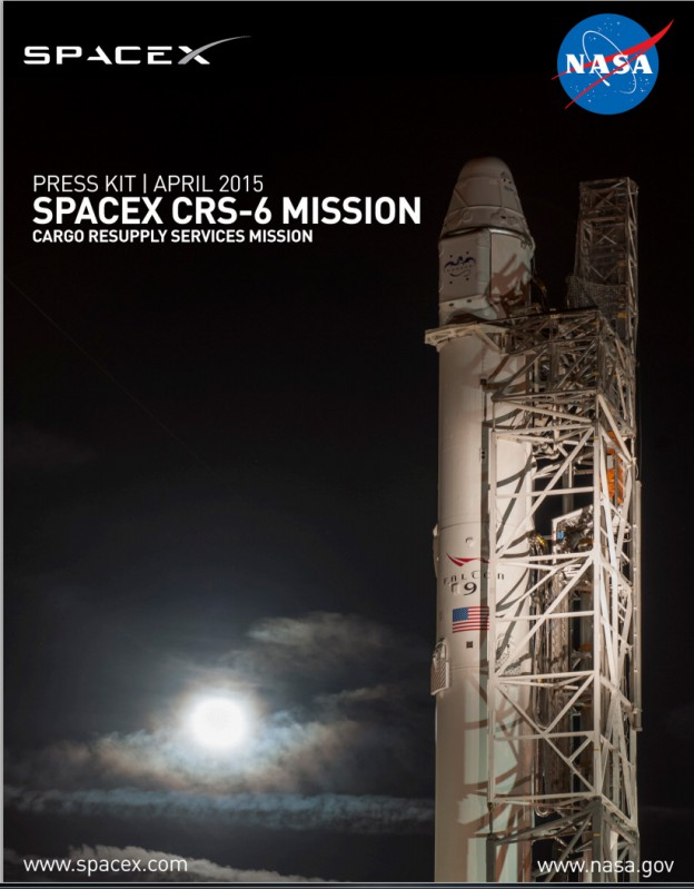 Launch Forecast 60 Percent 'Go'  and the CRS-6 Press Kit is Now Available