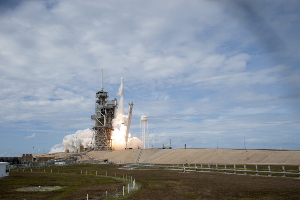On June 3, 2017, a SpaceX Falcon 9 rocket lifted off from Launch Complex 39A on the company's 11th commercial resupply services mission to the International Space Station.