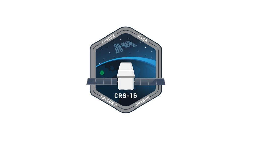 SpaceX CRS-16 Mission Patch.