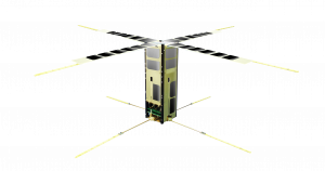 A rendering of NASA's Enhanced Tandem Beacon Experiment (E-TBEx), one of four agency payloads launching on the Department of Defense's Space Test Program-2 (STP-2).