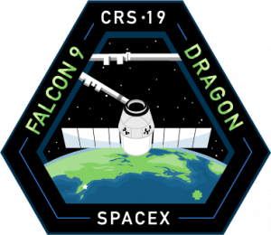 The mission patch for SpaceX's 19th Commercial Resupply Services mission to the International Space Station.