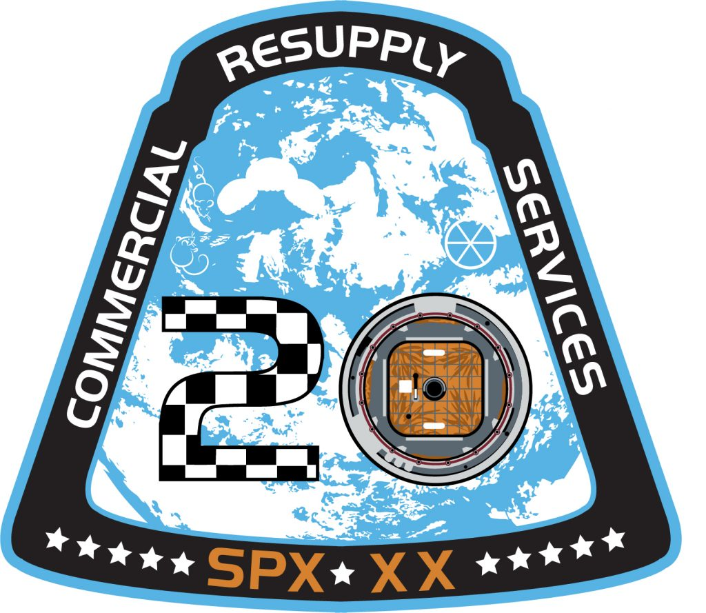 SpaceX CRS-20 mission patch.