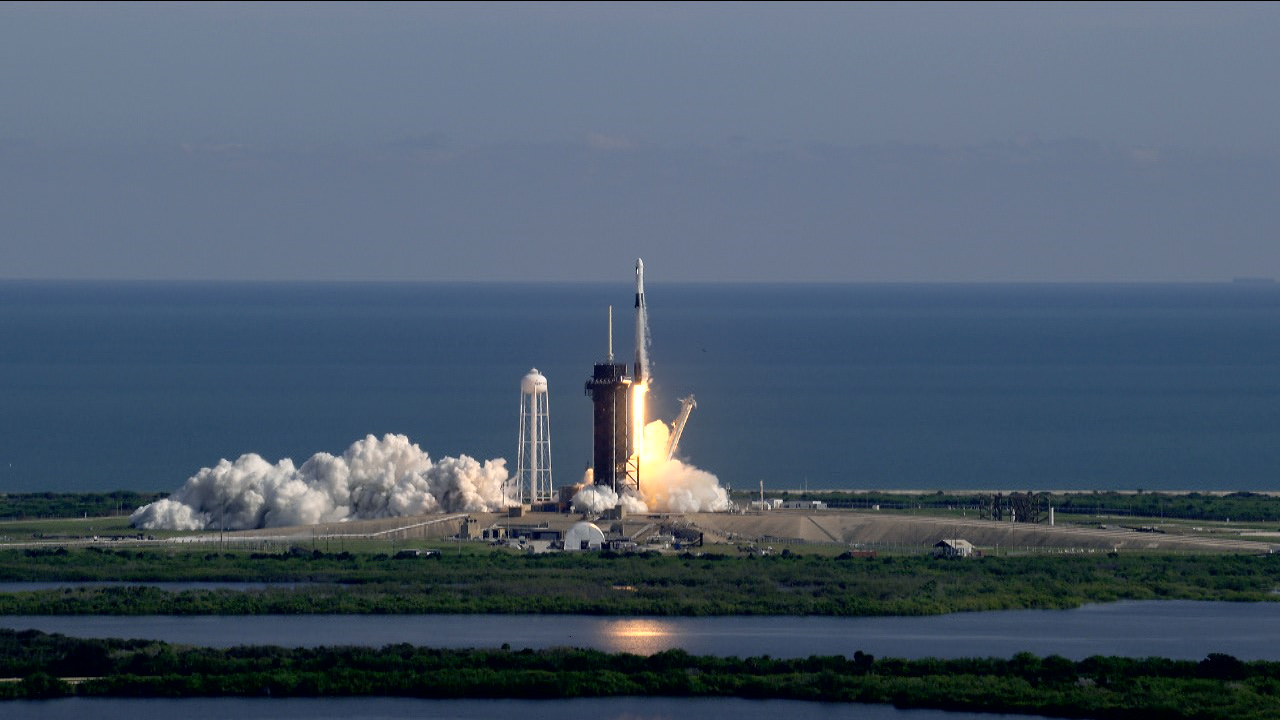 Liftoff of SpaceX CRS-21 to the International Space Station.