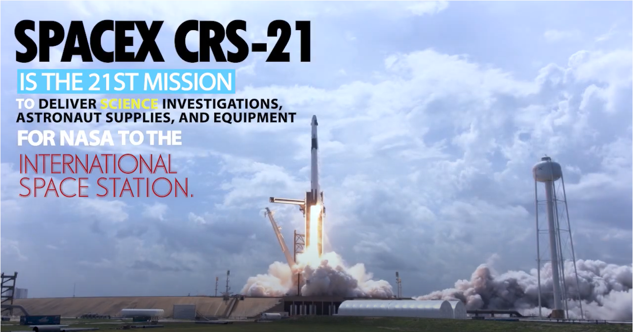 CRS-21 mission firsts graphic.