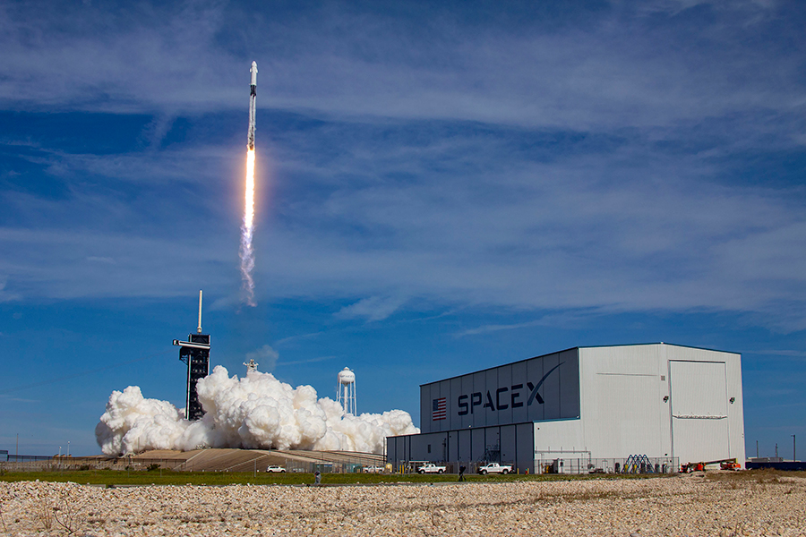 The upgraded SpaceX Dragon resupply ship lifts off atop the Falcon 9 rocket on Dec. 6 from Kennedy Space Center in Florida.