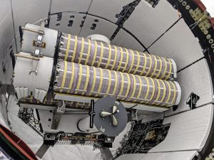 The first two of six new solar arrays for the International Space Station have been loaded into Dragon's unpressurized spacecraft trunk for CRS-22.