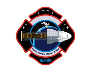 The logo for SpaceX's 22nd commercial resupply services mission to the International Space Station.