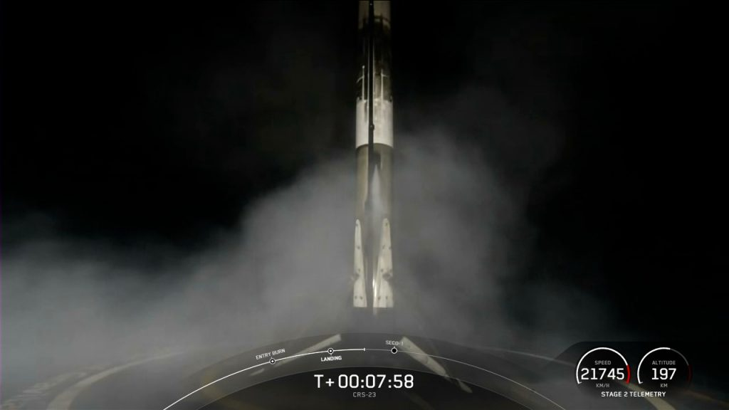 SpaceX Falcon 9 rocket first stage landing