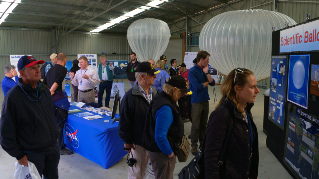 NASA's Balloon Program exhibit at the Wanaka Airshow