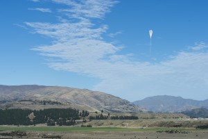 A super pressure balloon lifts off from Wanaka Airport.