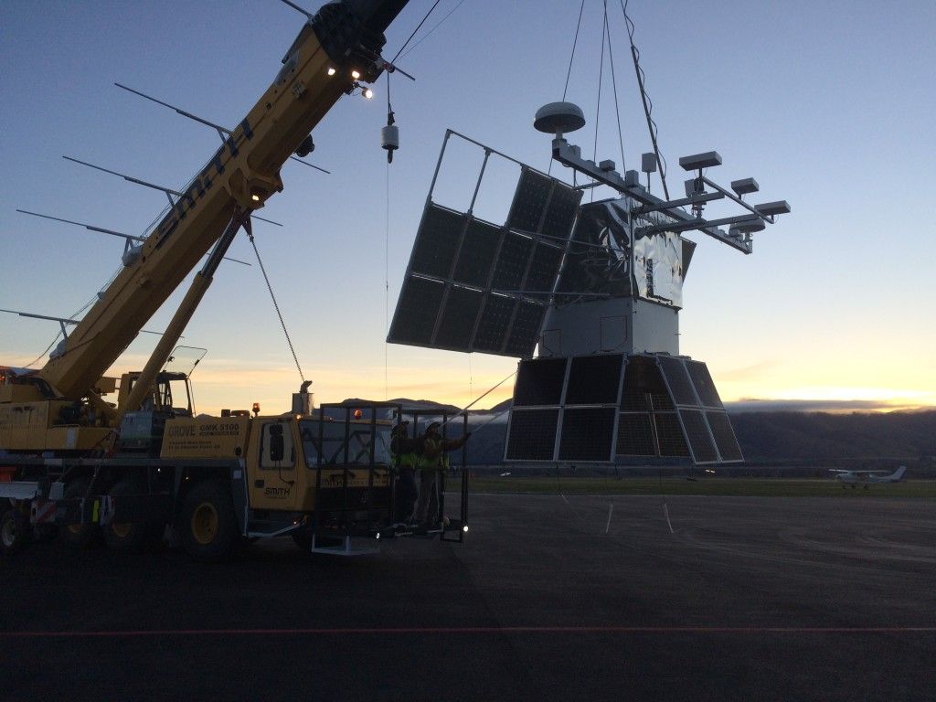 COSI payload returns from flight line
