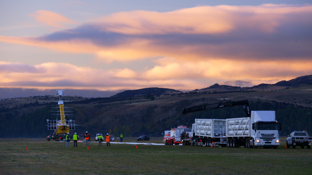 Sunrise at Wanaka Airport