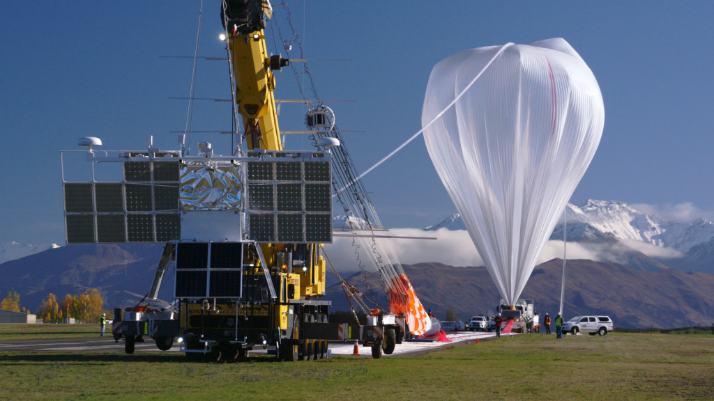 Super Pressure Balloon at launch