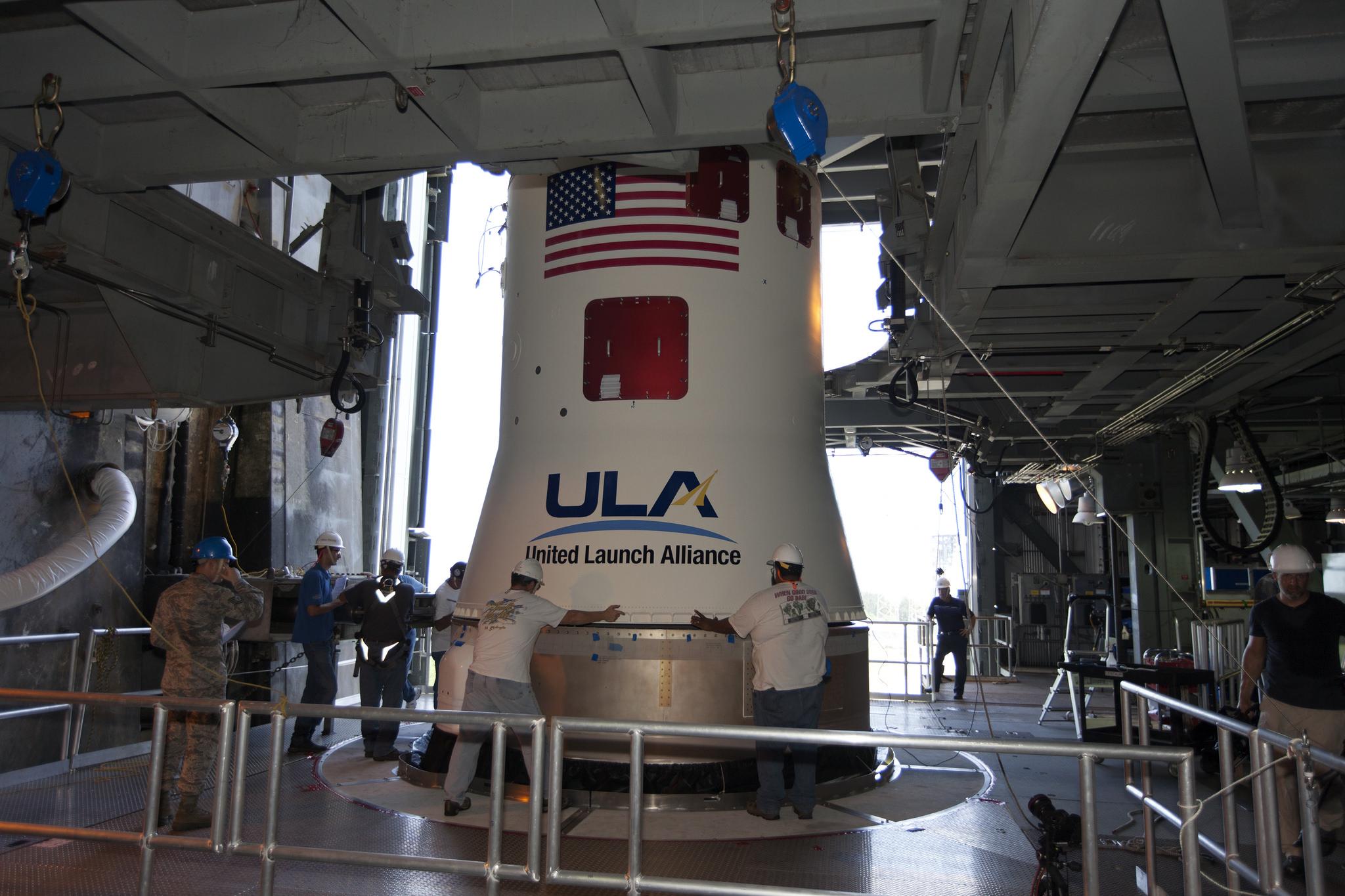 Centaur upper stage in place atop atlas v tdrs m for Space v place