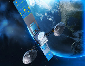 This illustration depicts the NASA's Tracking and Data Relay Satellite, TDRS-M, in orbit.